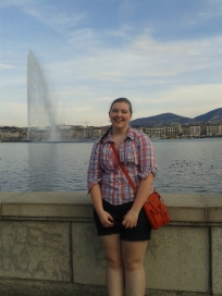 Cheesy tourist picture in Geneva