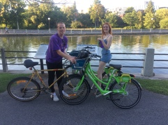 Biking along the canal